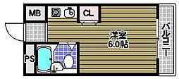 ラフォーレ北野田[3階]の間取り