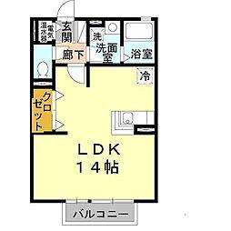 兵庫県三木市本町2丁目の賃貸アパートの間取り