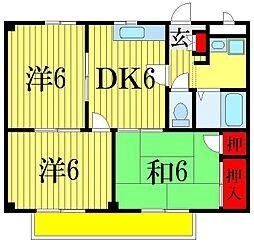 千葉県船橋市飯山満町2の賃貸アパートの間取り