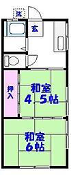 コーポ若竹[101号室]の間取り