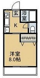 中祥マンションC[1階]の間取り