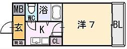 シャイン菱屋西[2階]の間取り