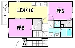レジデンスTI A[201 号室号室]の間取り
