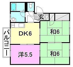 ラフレシア杉浦K棟[K-102 号室号室]の間取り