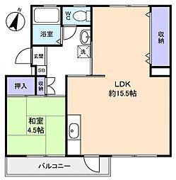 習志野台団地12街区1号棟[2階]の間取り
