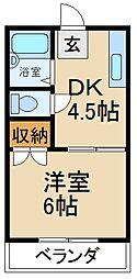 大阪府寝屋川市田井町の賃貸マンションの間取り