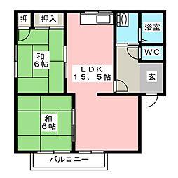 エトランゼ130 A棟[2階]の間取り