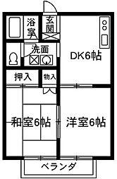 リバーハイツ藤岡[2階]の間取り