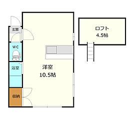 マクセル11/100[2階]の間取り