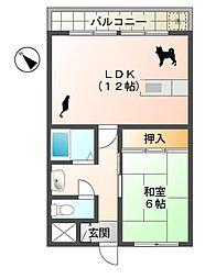 滋賀県蒲生郡日野町大字山本の賃貸アパートの間取り