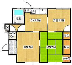[一戸建] 愛媛県新居浜市北内町2丁目 の賃貸【/】の間取り
