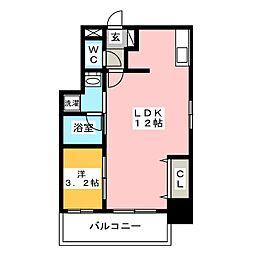 ウインステージ箱崎[9階]の間取り