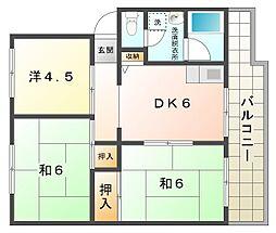 KNハイツ[5階]の間取り