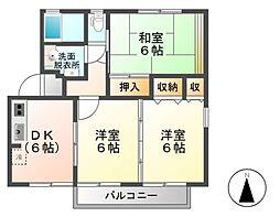 メゾンエスポワール A棟[2階]の間取り