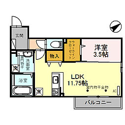 (仮)D-room四十万町[302号室]の間取り