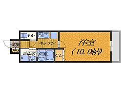 大阪府堺市堺区六条通の賃貸マンションの間取り