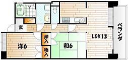サンライフ中津口[9階]の間取り