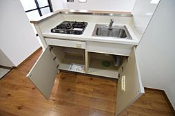 置地マンションのキッチン