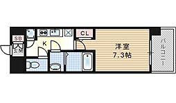 レジュールアッシュ福島CUEZ[7階]の間取り