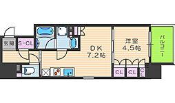 ザ・パークハビオ堂島[3階]の間取り