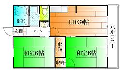 トモバヤシハイタウンB棟[1階]の間取り