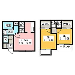[テラスハウス] 静岡県静岡市清水区八坂北1丁目 の賃貸【/】の間取り