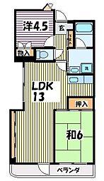 ウイング朝霞台[4階]の間取り