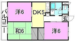 レーベンイケダ土居田2[205 号室号室]の間取り