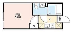 東京都葛飾区西亀有3丁目の賃貸アパートの間取り