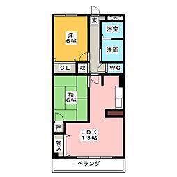 ジョイフル梶田II[3階]の間取り