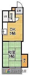 福岡県福岡市博多区寿町3丁目の賃貸マンションの間取り