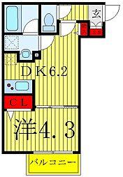 東京メトロ南北線 志茂駅 徒歩7分の賃貸マンション 1階1DKの間取り