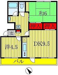 戸ヶ崎第一ニューハイツ[1階]の間取り