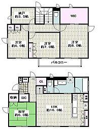 横浜市磯子区磯子6丁目戸建 2階4LDKの間取り
