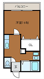 CREST SHINYA[1階]の間取り