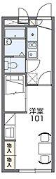 南海高野線 初芝駅 バス8分 菩提下車 徒歩2分の賃貸アパート 2階1Kの間取り