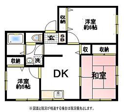 アビタシオン大和田A[1階]の間取り