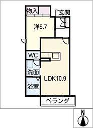 シャーメゾンガーデンズ橦木荘[2階]の間取り