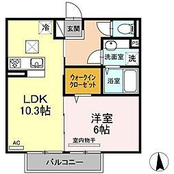 (仮)D-room山本9丁目[202号室]の間取り