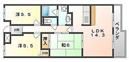 リバージュ2[4階]の間取り