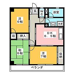 エステート上松[3階]の間取り