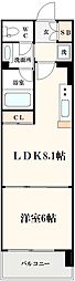 コンソラーレ土佐堀[504号室]の間取り