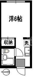 第3一水荘[2階]の間取り