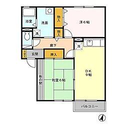 プレミール姶良 B棟[2階]の間取り