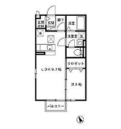 Tiny Court(タイニーコート)[1階]の間取り