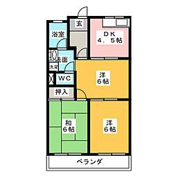 ハイツシュン[2階]の間取り