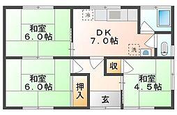 [一戸建] 岡山県総社市中央3丁目 の賃貸【岡山県 / 総社市】の間取り