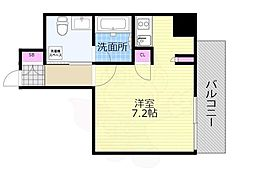 Osaka Metro千日前線 西長堀駅 徒歩4分の賃貸マンション 3階ワンルームの間取り