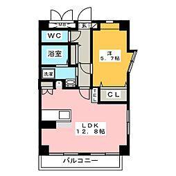 グラシューズ鶴舞[4階]の間取り