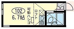 ユナイトステージ下平間[1階]の間取り